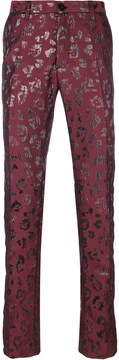 Christian Pellizzari metallic patterned trousers