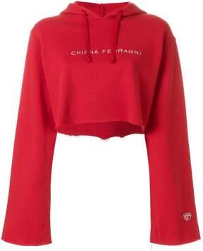 Chiara Ferragni elongated sleeve hoodie