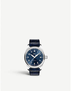 IWC Pilot's 36 alligator leather and stainless steel watch