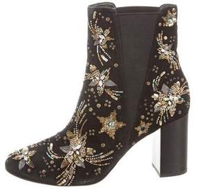 Rebecca Minkoff Suede Beaded Ankle Boots