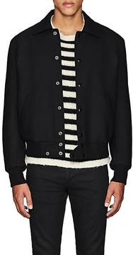 Saint Laurent Men's Wool Twill Teddy Jacket