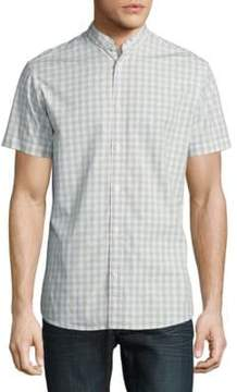 Selected Slim Fit Gingham Short Sleeve Button-Down Shirt