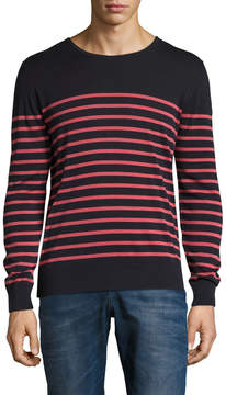 J. Lindeberg Men's Milton Striped Crewneck Sweater