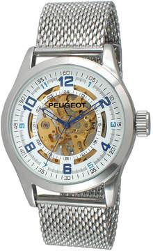 Peugeot Mens Stainless Steel Skeleton Watch 1050S