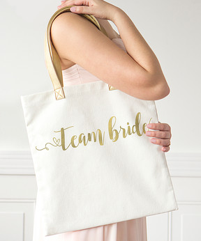 Cathy's Concepts 'Team Bride' Gold Foil Tote