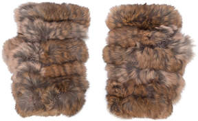 Jocelyn fingerless fur gloves