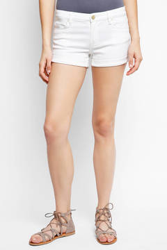 Blank Cuffed White Denim Shorts