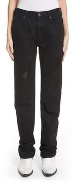Calvin Klein Silk Knee Patch Straight Leg Jeans