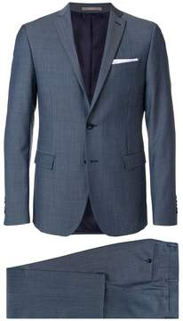 Paoloni micro-checked slim-fit suit