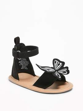 Old Navy Sueded Butterfly-Applique Sandals for Baby