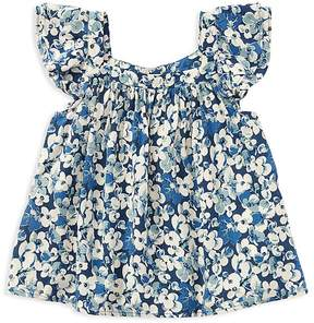 Polo Ralph Lauren Girls' Challis Floral Top - Little Kid