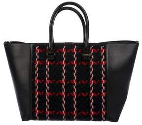 Victoria Beckham Knit Leather-Trimmed Liberty Tote