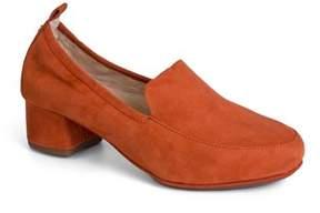 Yosi Samra Womens Nira Rust Brown Suede Heel Loafer.