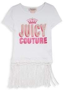 Juicy Couture Girl's Embellished Fringed-Hem Top
