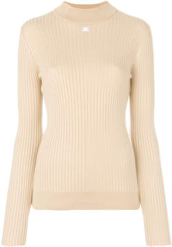 Courreges ribbed knitted sweater