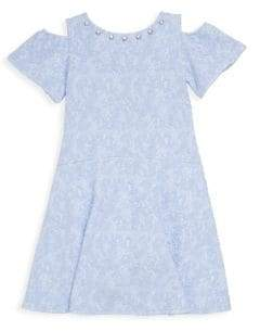 Us Angels Little Girl's Embellished Cold-Shoulder Dress