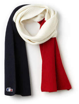Lacoste Men's French Sporting Spirit Edition Colorblock Wool Scarf