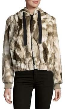 C&C California Faux Fur Hooded Coat