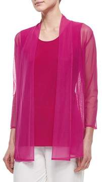 Caroline Rose 3/4-Sleeve Illusion Cardigan, Plus Size