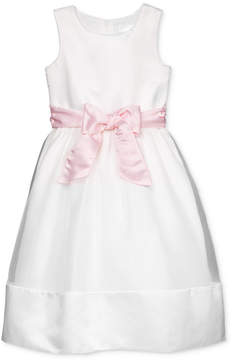 Us Angels Lavender by Contrast Sash Dress, Little Girls