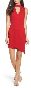 Adelyn Rae Women's Choker Asymmetrical Body-Con Dress
