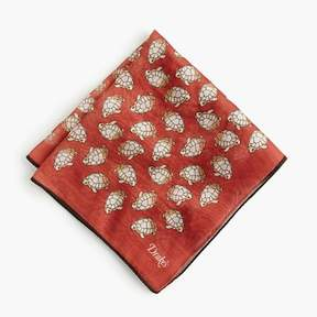 J.Crew Drake's® cotton-silk pocket square in turtle print