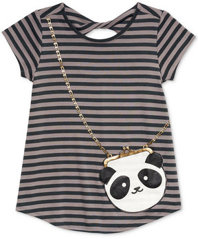 Jessica Simpson Katelyn Panda Purse-Pocket T-Shirt, Big Girls (7-16)