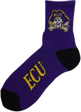 For Bare Feet Men's East Carolina Pirates Ankle Tc 501 Socks