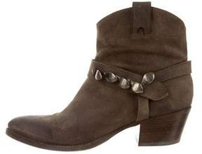 Sartore Distressed Suede Ankle Boots