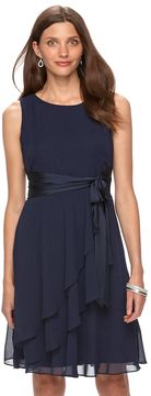 Chaps Women's Chiffon Fit & Flare Evening Dress