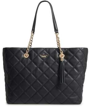 Kate Spade New York Emerson Place - Priya Quilted Leather Tote - Black