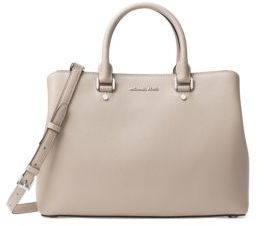 MICHAEL MICHAEL KORS Savannah Large Saffiano Leather Satchel