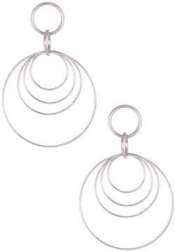 Rivka Friedman Bold Multiple Circle Dangle Satin Earrings