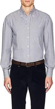 Brunello Cucinelli Men's Striped Cotton Button-Down Shirt