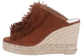 Castaner Fringe-Trimmed Wedge Sandals
