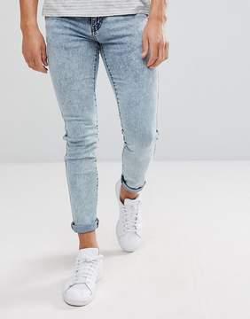 Dr. Denim Snap Acid Blue Skinny Jean