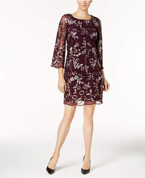 Charter Club Embroidered Illusion Dress, Created for Macy's