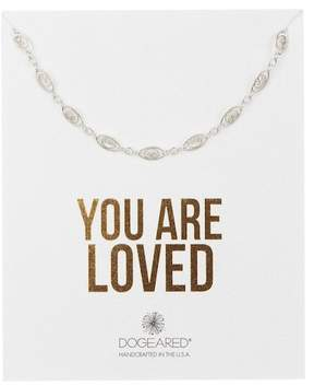 Dogeared Sterling Silver 'You Are Loved' Delicate Filigree Link Choker Necklace