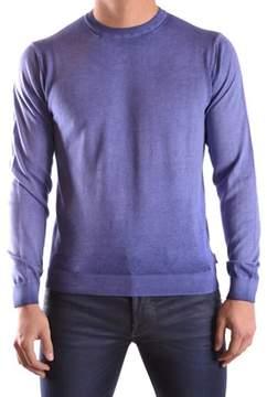 Armani Collezioni Men's Blue Cotton Sweater.