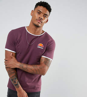 Ellesse Muscle Fit T-Shirt With Small Logo In Red