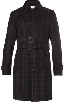 Oliver Spencer Southgate Checked Wool-Twill Trench Coat