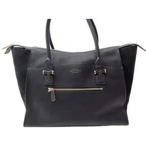 Smythson Black Leather Handbag