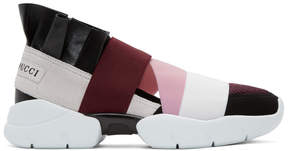 Emilio Pucci Black and Burgundy City Up Sneakers