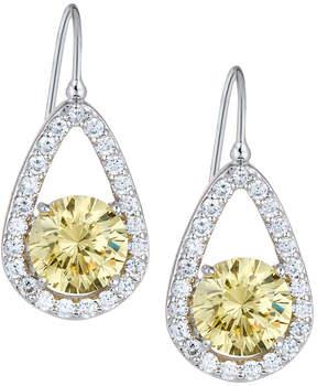 FANTASIA Teardrop Crystal Dangle Earrings, Yellow