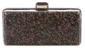 Oscar de la Renta Abstract Leather Clutch