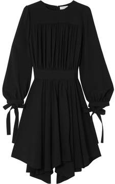 Chloé Pleated Asymmetric Cady Dress - Black