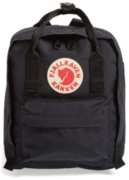 Fjallraven 'Mini Kanken' Water Resistant Backpack - Black