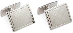Ryan Seacrest Distinction Polished Rhodium Laser Engraved Plaid Cufflink