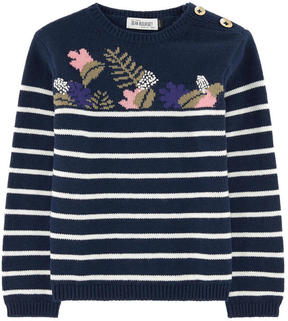Jean Bourget Striped wool blend sweater