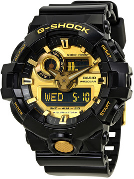 Casio G-Shock Gold-Tone Dial Black Resin Men's Watch